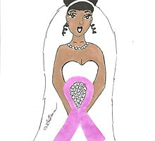 Breast Cancer greeting card by Stacy LeGras