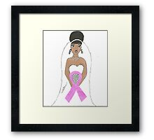 Breast Cancer greeting card Framed Print