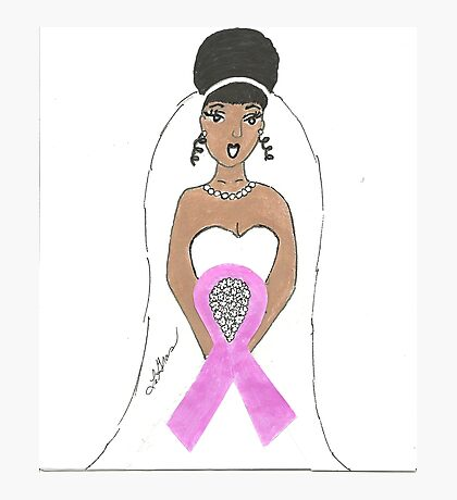Breast Cancer greeting card Photographic Print
