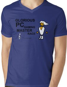 PCMR - Large Mens V-Neck T-Shirt