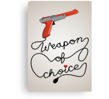 Weapon of Choice (2014 Revamped Version) Canvas Print