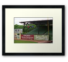 Baseball Field & Burma Shave Sign Framed Print