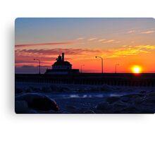 lighthouse Sunrise 2 Canvas Print