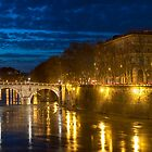 Ponte Sisto at night by Roberto Bettacchi