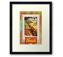 Farm Fresh Market Framed Print