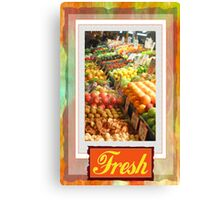 Farm Fresh Market Canvas Print