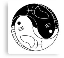 Yin Yang Pisces Fish Canvas Print