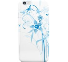Abstract Blue Floral iPhone Case/Skin