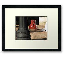 water pitcher Framed Print