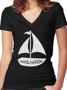 Sail AWOL Women's Fitted V-Neck T-Shirt
