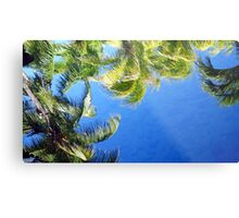 Nature in Blue and Green Metal Print