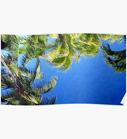 Nature in Blue and Green Poster