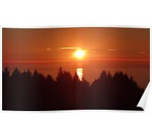 Northern California Sunset Poster