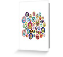 doll matryoshka Greeting Card