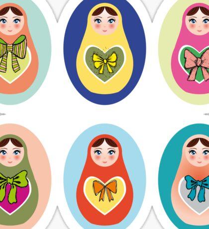 doll matryoshka Sticker