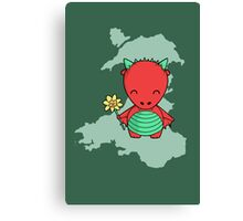 Little Welsh Dragon Canvas Print