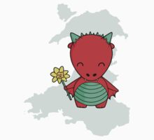 Little Welsh Dragon Baby Tee