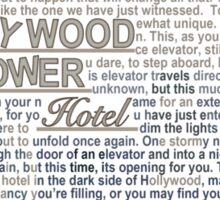 The Hollywood Tower Hotel Sticker