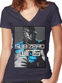 Sub Zero Wins Women's Fitted V-Neck T-Shirt