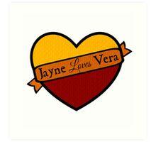 Jayne Loves Vera Art Print