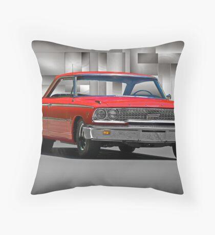 1963 Ford Galaxy 427 cu. in. Throw Pillow