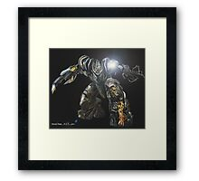 Megatron mid transformation Framed Print