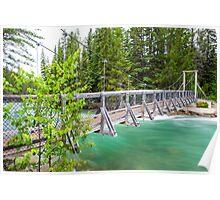 """""""Fifth Bridge"""" Over the Maligne River Poster"""