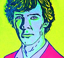 Sherlock Holmes in Fluorescent colors by kramcox