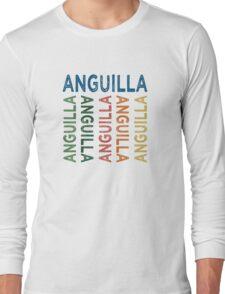 Anguilla Cute Colorful Long Sleeve T-Shirt