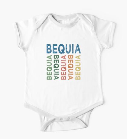 Bequia Cute Colorful One Piece - Short Sleeve