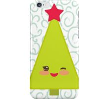 Happy New Year card. Christmas tree  iPhone Case/Skin