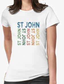 St John Cute Colorful Womens Fitted T-Shirt