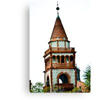 Flagler College turret (once the Ponce de Leon Hotel) Canvas Print