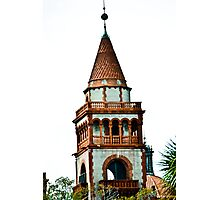 Flagler College turret (once the Ponce de Leon Hotel) Photographic Print
