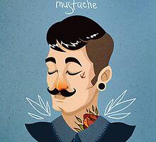 Love Mustache by Stanislava Korobkova