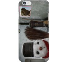 snowman at home iPhone Case/Skin