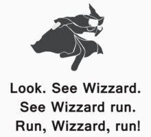 Miscellaneous - run, wizzard, run - gray Kids Tee