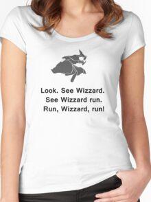 Miscellaneous - run, wizzard, run - gray Women's Fitted Scoop T-Shirt