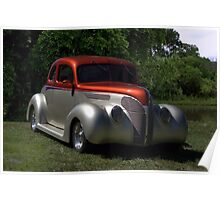 1937 Ford Coupe Hot Rod Poster