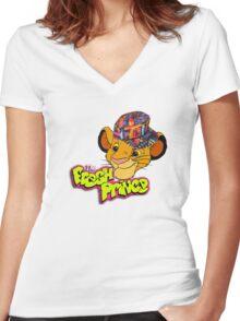 Fresh prince simba Women's Fitted V-Neck T-Shirt