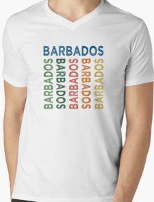 Barbados Cute Colorful Mens V-Neck T-Shirt