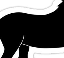 Unicorn Silhouette Sticker