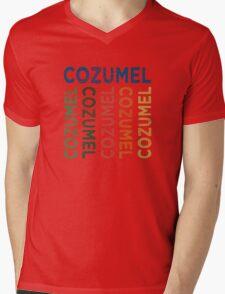 Cozumel Cute Colorful Mens V-Neck T-Shirt