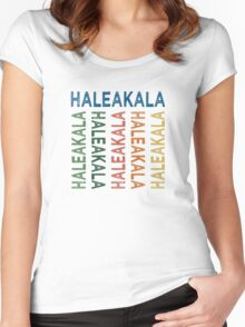 Haleakala Cute Colorful Women's Fitted Scoop T-Shirt