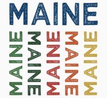Maine Cute Colorful Kids Tee