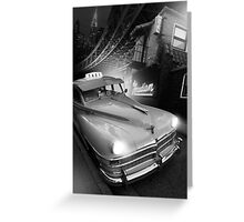 Metropolis Cab Greeting Card