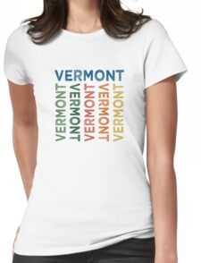 Vermont Cute Colorful Womens Fitted T-Shirt