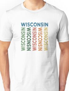 Wisconsin Cute Colorful Unisex T-Shirt