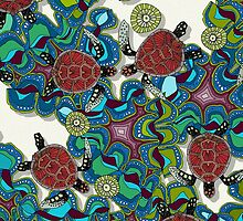turtle reef (card) by Sharon Turner