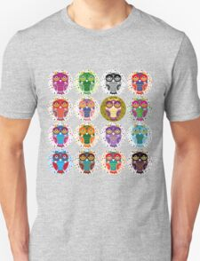 funny colorful owls Unisex T-Shirt